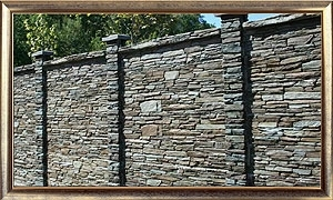 Die dekorative Betonmauer TVD-Serie
